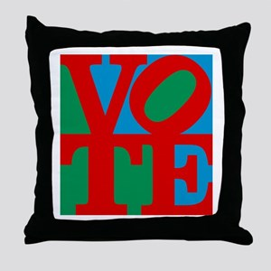 VOTE (3-color) Throw Pillow