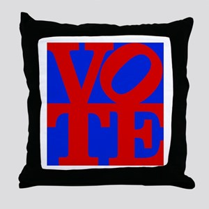 VOTE (2-color) Throw Pillow