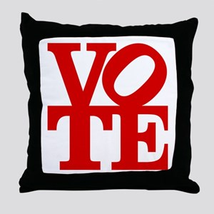 VOTE (1-color) Throw Pillow