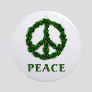Peace Holiday Christmas Ornament (Round)