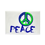 Peace Sign Rectangle Magnet (10 pack)