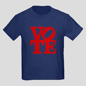 VOTE (1-color) Kids Dark T-Shirt