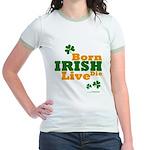 Irish Born Live Die Jr. Ringer T-Shirt