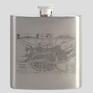Vintage Map of Bremen Germany (1865) Flask