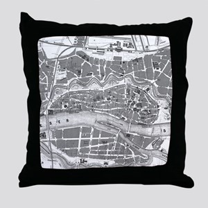 Vintage Map of Bremen Germany (1865) Throw Pillow