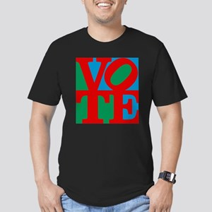 VOTE (3-color) Men's Fitted T-Shirt (dark)