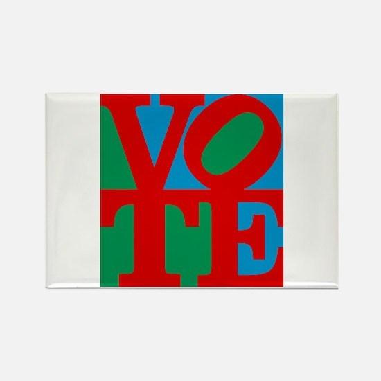 VOTE (3-color) Rectangle Magnet