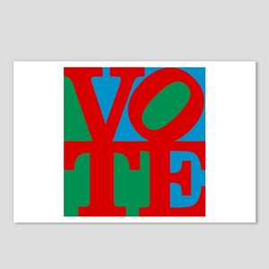 VOTE (3-color) Postcards (Package of 8)