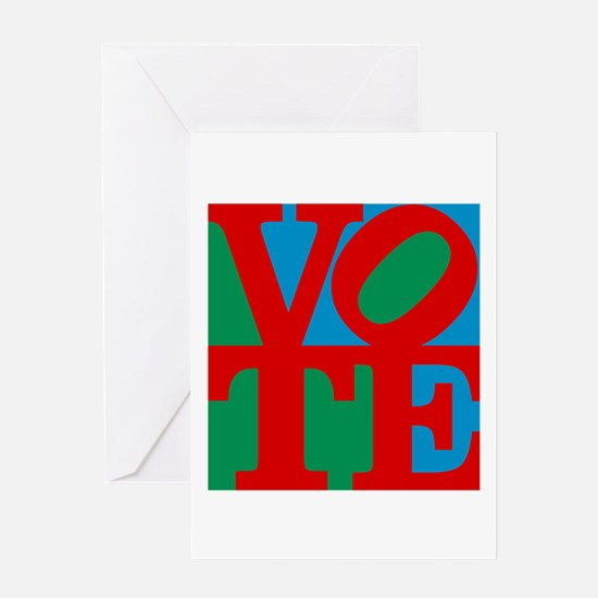 VOTE (3-color) Greeting Card