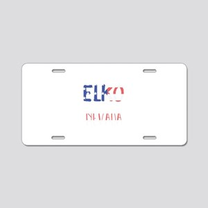 Elko Nevada Aluminum License Plate