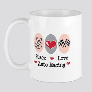 Peace Love Auto Racing Mug