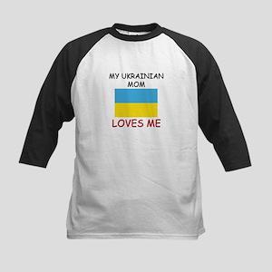 My Ukrainian Mom Loves Me Kids Baseball Jersey