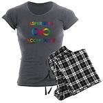 Aspergers Acceptance Women's Charcoal Pajamas
