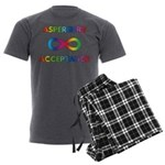 Aspergers Acceptance Men's Charcoal Pajamas