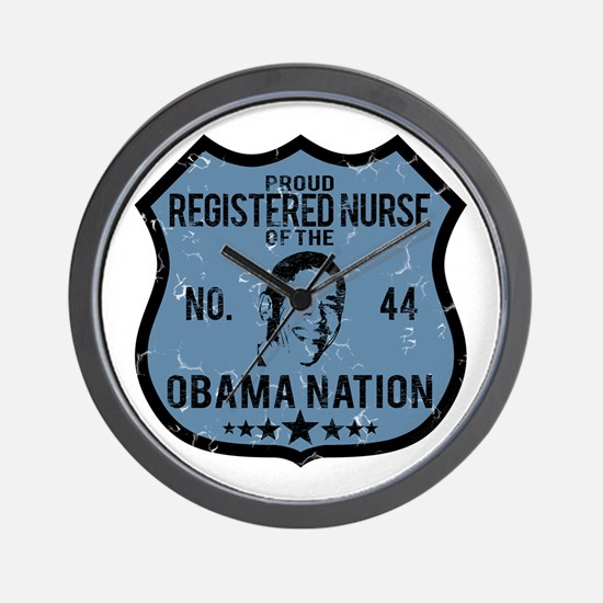 RN Obama Nation Wall Clock