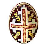 Pysanka Ukrainian Easter Egg Oval Ornament