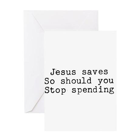 Stop Spending Greeting Card