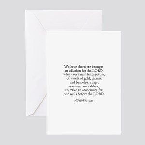NUMBERS  31:50 Greeting Cards (Pk of 10)