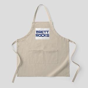 brett rocks BBQ Apron