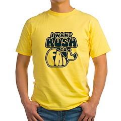 I Want Rush to Fail Yellow T-Shirt