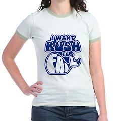I Want Rush to Fail Jr. Ringer T-Shirt