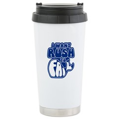 I Want Rush to Fail Stainless Steel Travel Mug