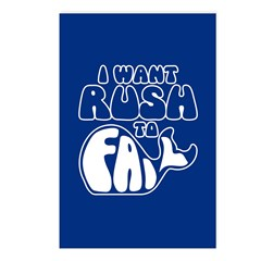 I Want Rush to Fail Postcards (Package of 8)