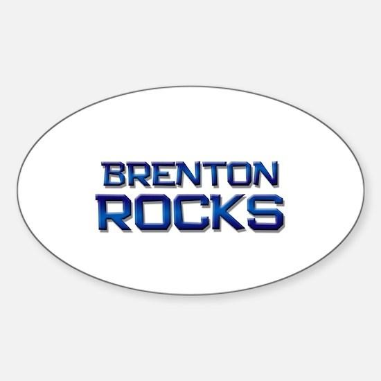 brenton rocks Oval Decal
