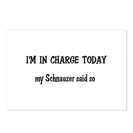 I'm in Charge Schnauzer Postcards (Package of 8)