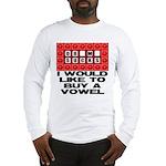 I would like to buy a vowel Long Sleeve T-Shirt
