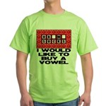 I would like to buy a vowel Green T-Shirt