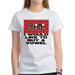 I would like to buy a vowel Women's T-Shirt