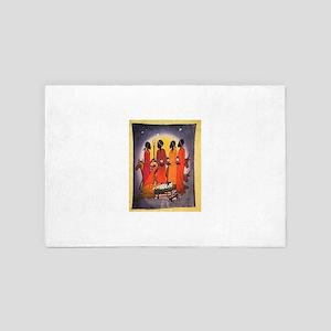 African Christmas Nativity Scene 4' x 6' Rug