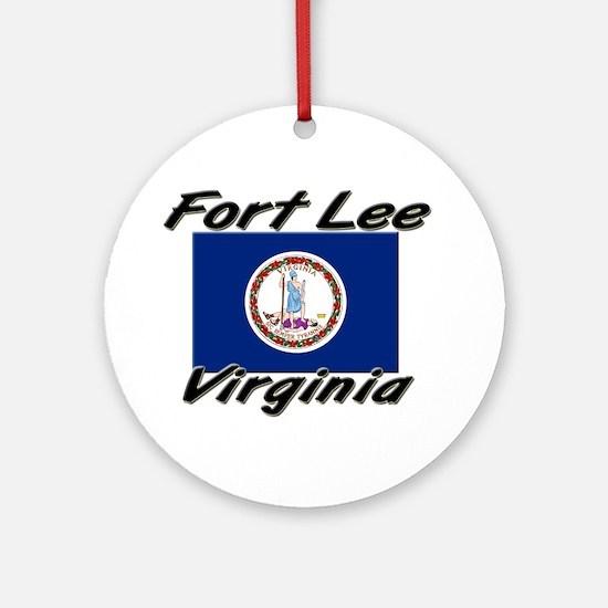 Fort Lee virginia Ornament (Round)