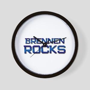 brennen rocks Wall Clock