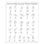 ASL Manual Alphabet Small Poster