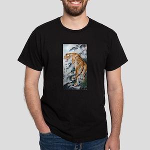 Asian Watercolor Tiger Art cool,oriental,c T-Shirt