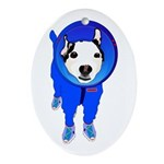 Space Dog Meiklo Oval Ornament