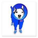 Space Dog Meiklo Square Car Magnet 3