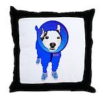 Space Dog Meiklo Throw Pillow