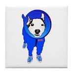 Space Dog Meiklo Tile Coaster