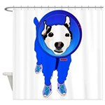 Space Dog Meiklo Shower Curtain