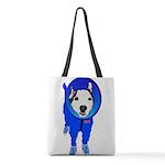 Space Dog Meiklo Polyester Tote Bag