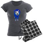 Space Dog Meiklo Women's Charcoal Pajamas