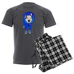 Space Dog Meiklo Men's Charcoal Pajamas