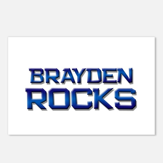 brayden rocks Postcards (Package of 8)