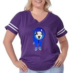 Space Dog Meiklo Women's Plus Size Football T-Shir