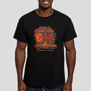 Christian Life Begins Men's Fitted T-Shirt (dark)