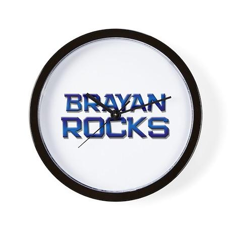 brayan rocks Wall Clock