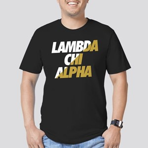 Lambda Chi Alpha Athle Men's Fitted T-Shirt (dark)